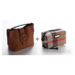 حقيبة يد +حقيبة مكياج