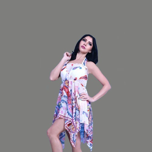 فستان بحر بتصيم مموج
